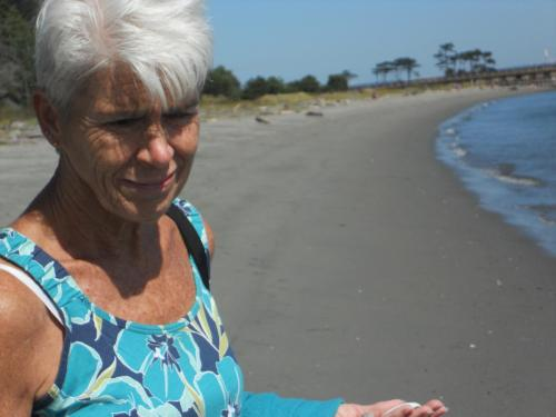 Beach and Mom